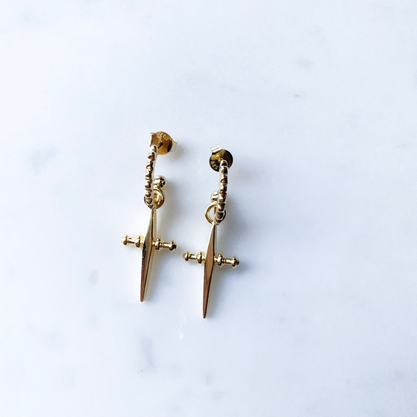 C R O S S VINTAGE EARRINGS