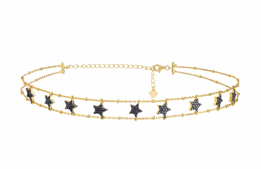 BLACK STAR CHOKER GOLD