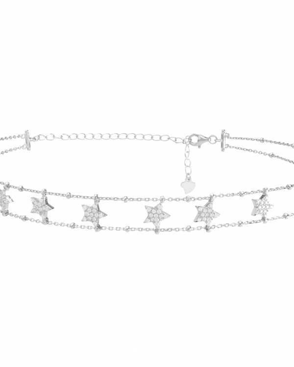 SUBLIME STARS SILVER CHOKER