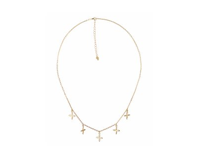 MODERN CROSS CHOKER GOLD