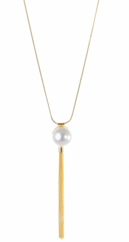 BOHO  PEARL GOLD NECKLACE