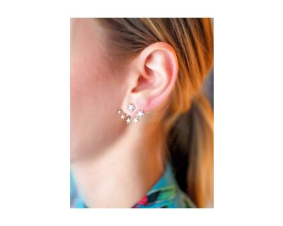2IN1 STAR EARJACKET SILVER