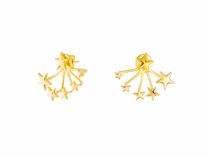 2IN1 GOLD STAR EARJACKET
