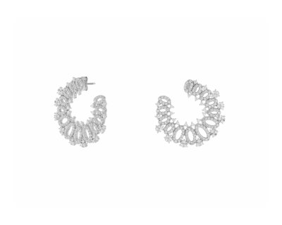 THICK CRYSTAL HOOPS