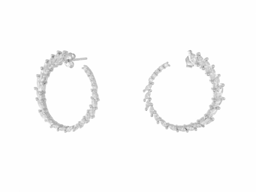 FLAWLESS CRYSTAL HOOPS