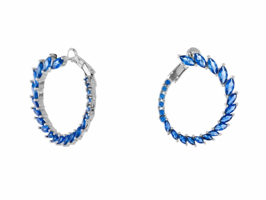 FLAWLESS BLUE HOOPS