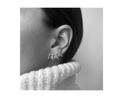 MULTBAR EARRING IN SILVER